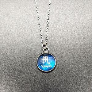 Scorpio Zodiac Astrology Circle Necklace